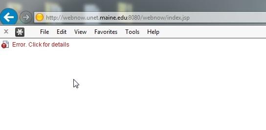 WebNow Error